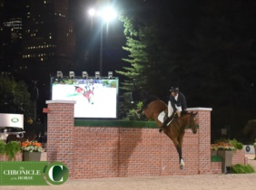 C'Havinia (L'Esprit x Grosso Z) with Andrew Kocher (USA) winning the puissance