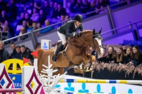 Nixon and Harrie Smolders Winning 6yo stallion final in Mechelen